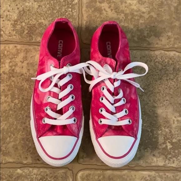 Converse Shoes   Pink Tie Dye Converse